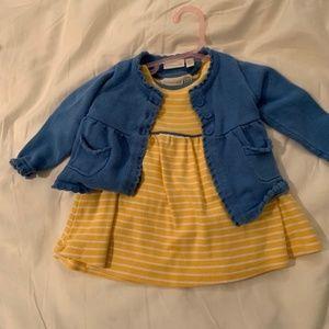 JoJo Maman Bebe Dress and Cardigan Set